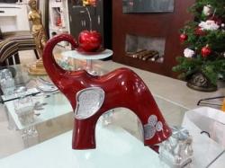 Elefante en cerámica acrilico con apliques